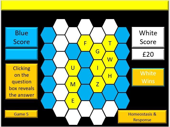 Interactive AQA GCSE Biology Blockbuster Vocabulary Revision Quiz Game