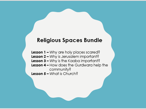 Scheme of Learning: Holy Spaces and Buildings