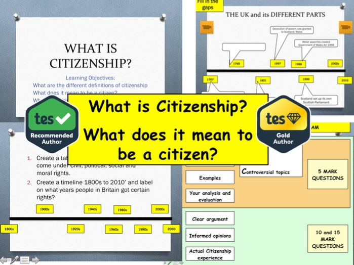 What is Citizenship?: What does it mean to be a citizen and British Values and Identity