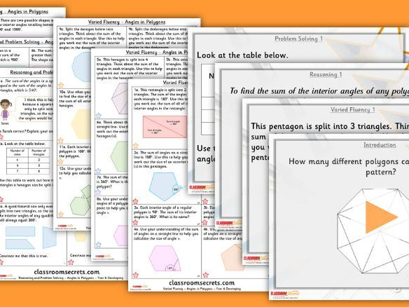 Year 6 Angles in Polygons Summer Block 1 Lesson Pack