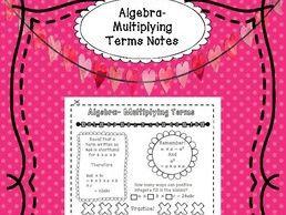 Algebra Multiplying Terms Notes - Interactive, Doodle and Organize