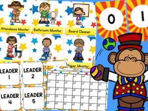 Circus Classroom Decor Pack - Editable