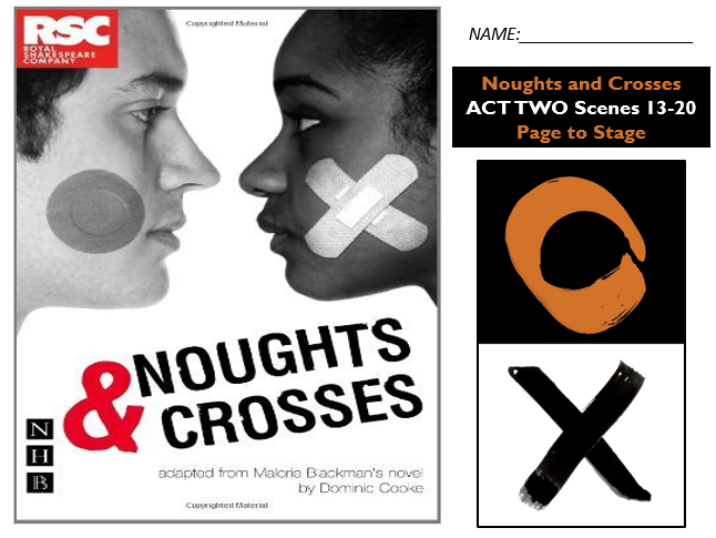GCSE Drama Home Learning - Noughts and Crosses Act Two S 13-20