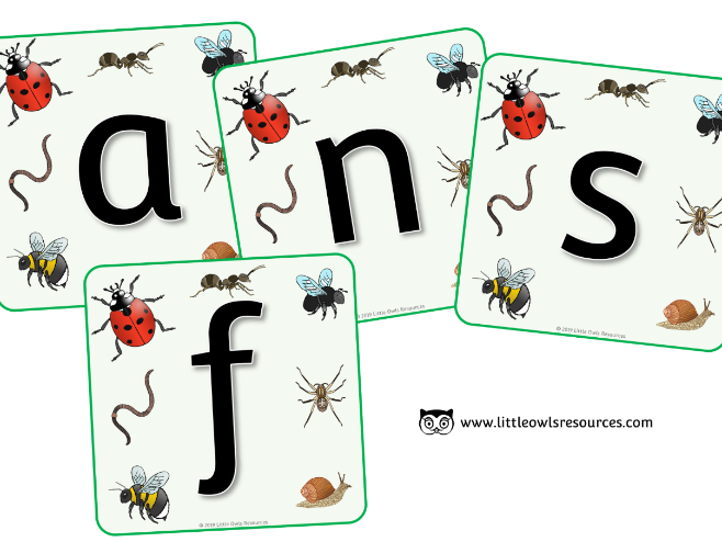 Minibeasts Alphabet Display - EDITABLE