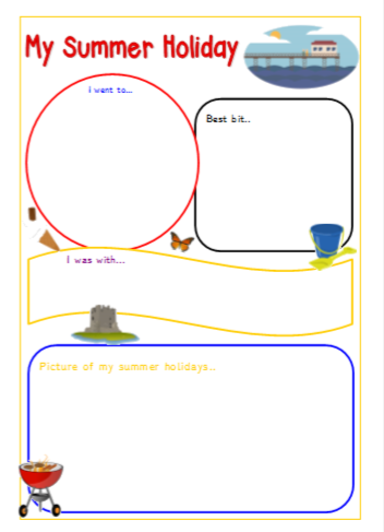 My Summer Holiday - worksheet