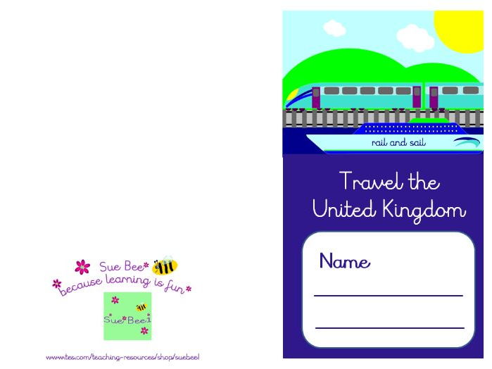 Travel Agent travel passport and map of UK destiations