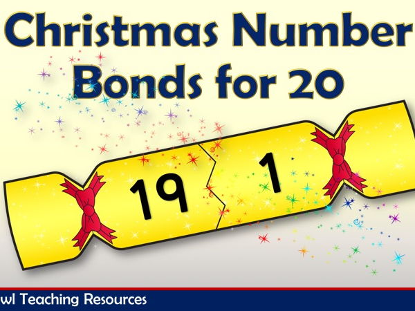 Christmas Crackers Number Bonds for 20