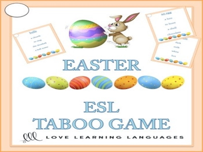ESL - ELL EASTER Theme Taboo Game