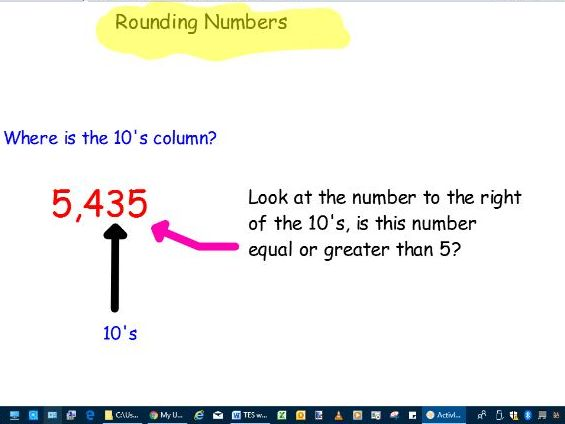 Lesson rounding to powers of 10