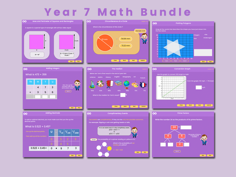 Year 7 Maths Bundle
