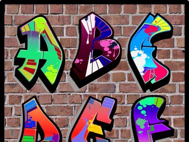 GRAFFITI ALPHABET LETTERING  A-Z DISPLAY