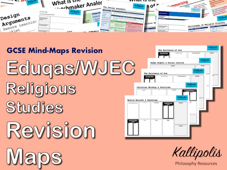 Eduqas / WJEC GCSE  Religious Studies Revision Pack - Blank Mind-Map Handouts