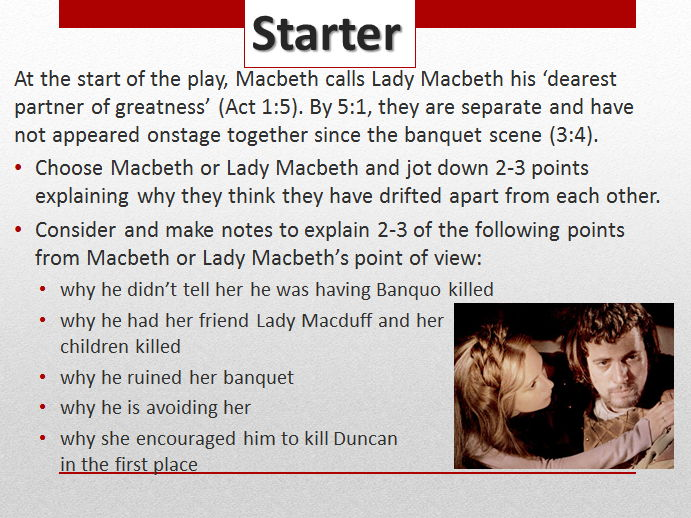 Macbeth Act 5 Scene 1: How does Lady Macbeth's language mirror her language earlier in the play?