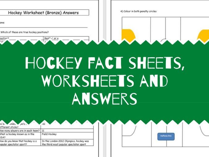 Hockey Worksheets