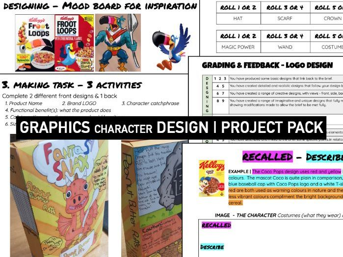 GRAPHIC DESIGN | Character Booklet | KS3 DT