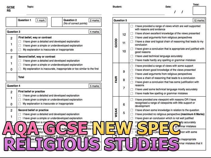 AQA GCSE Religious Studies Assessment Feedback (NEW 2017 Spec)