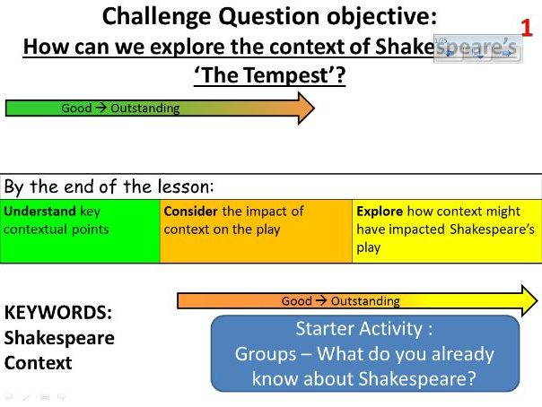 The Tempest - Abridged lessons