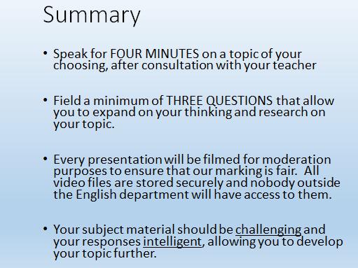 AQA GCSE Speaking & Listening guide