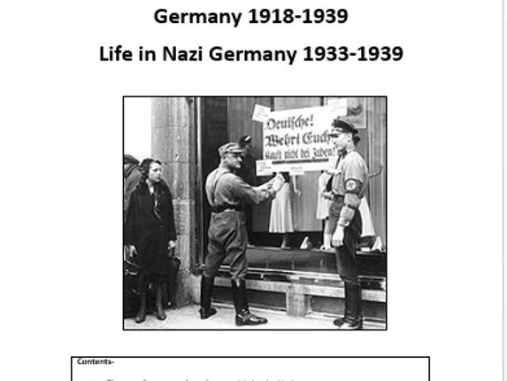 GCSE History activity booklet on life in Nazi Germany