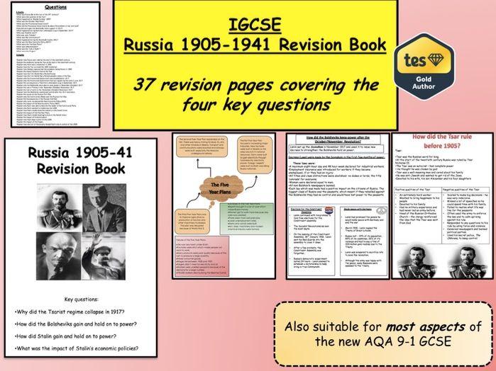 IGCSE Russia 1905-1941 Revision Book