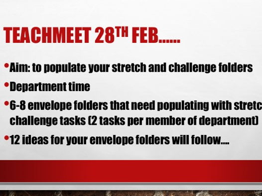 CPD Stretch and Challenge