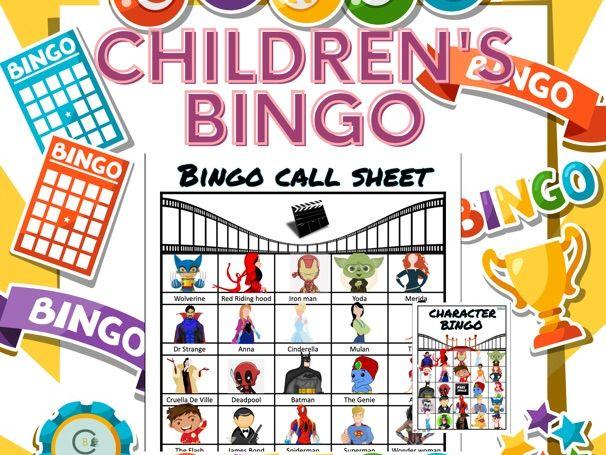 Children's Bingo Cards - set of 30