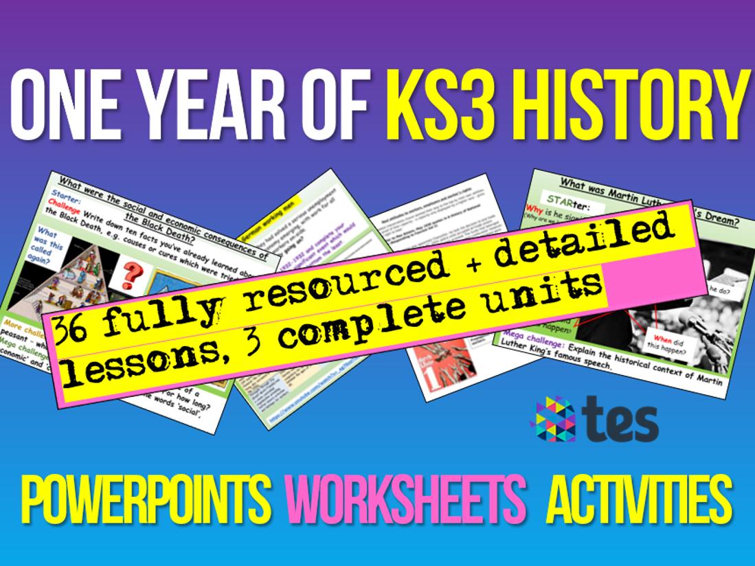 KS3 History : 1 Year's KS3 History