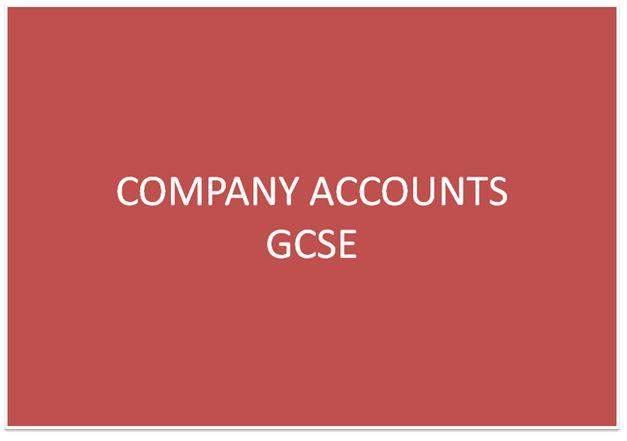 Company Accounts for O levels