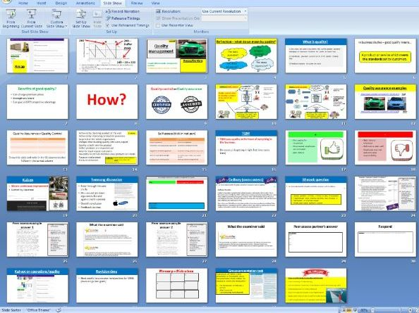 2.4.4 Quality management - Theme 2 Edexcel A Level