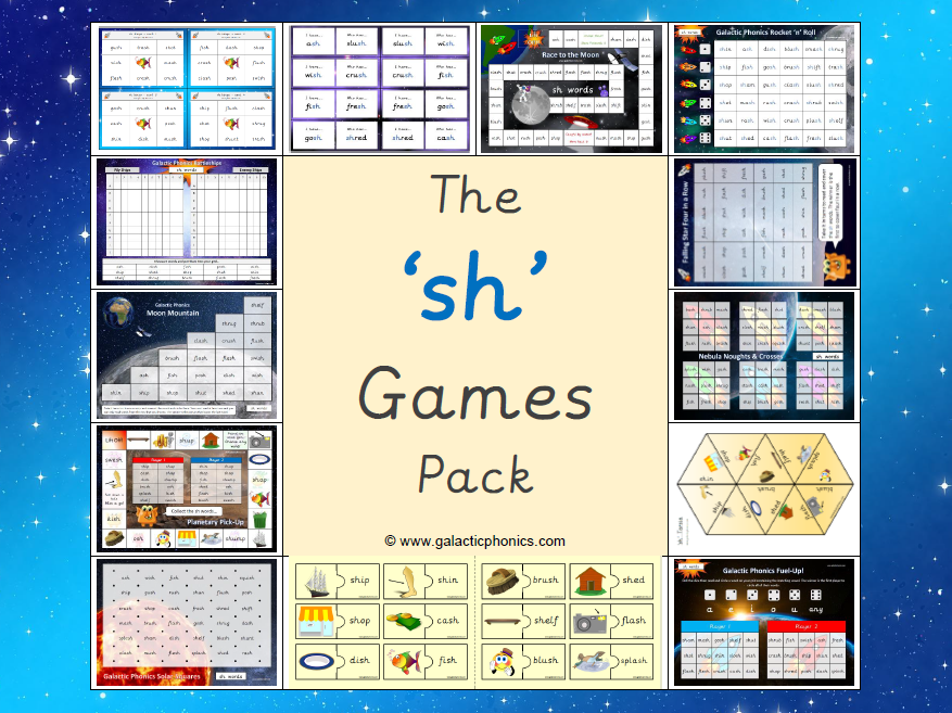 The 'sh' Phonics Games Pack