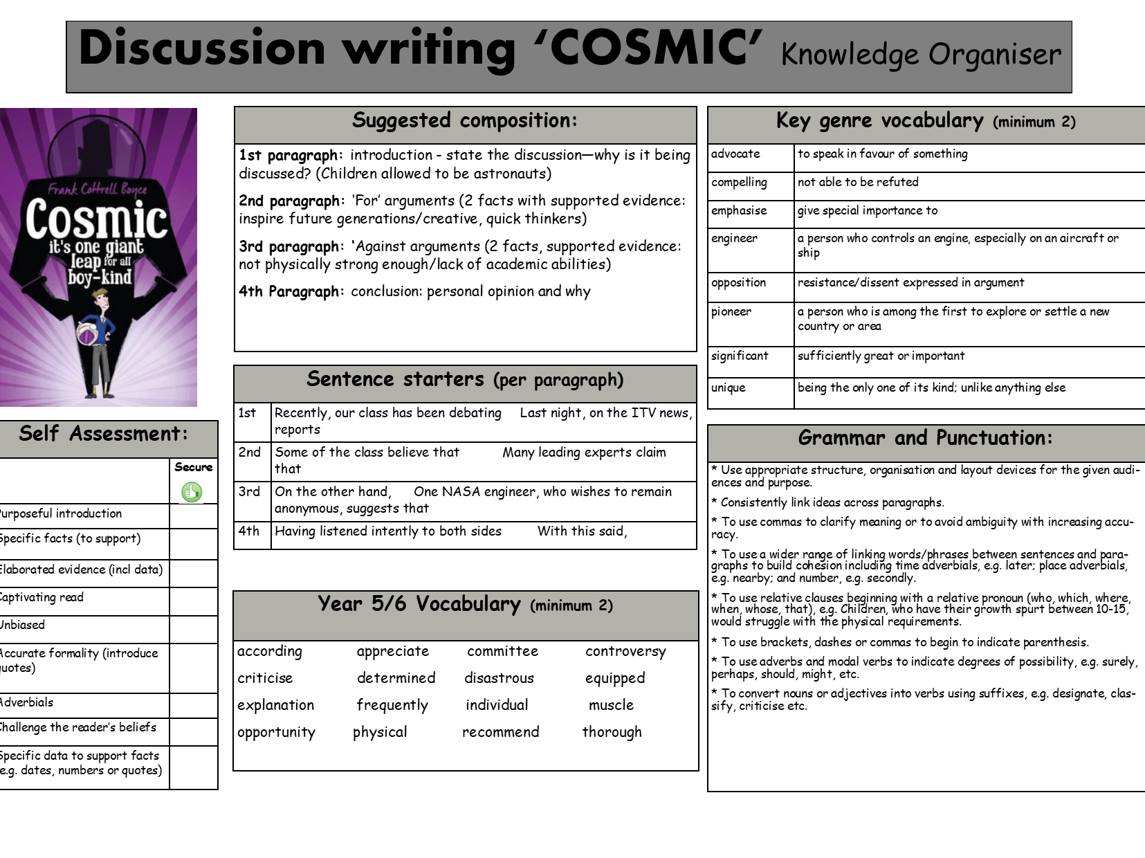 Discussion Knowledge Organiser based on Cosmic