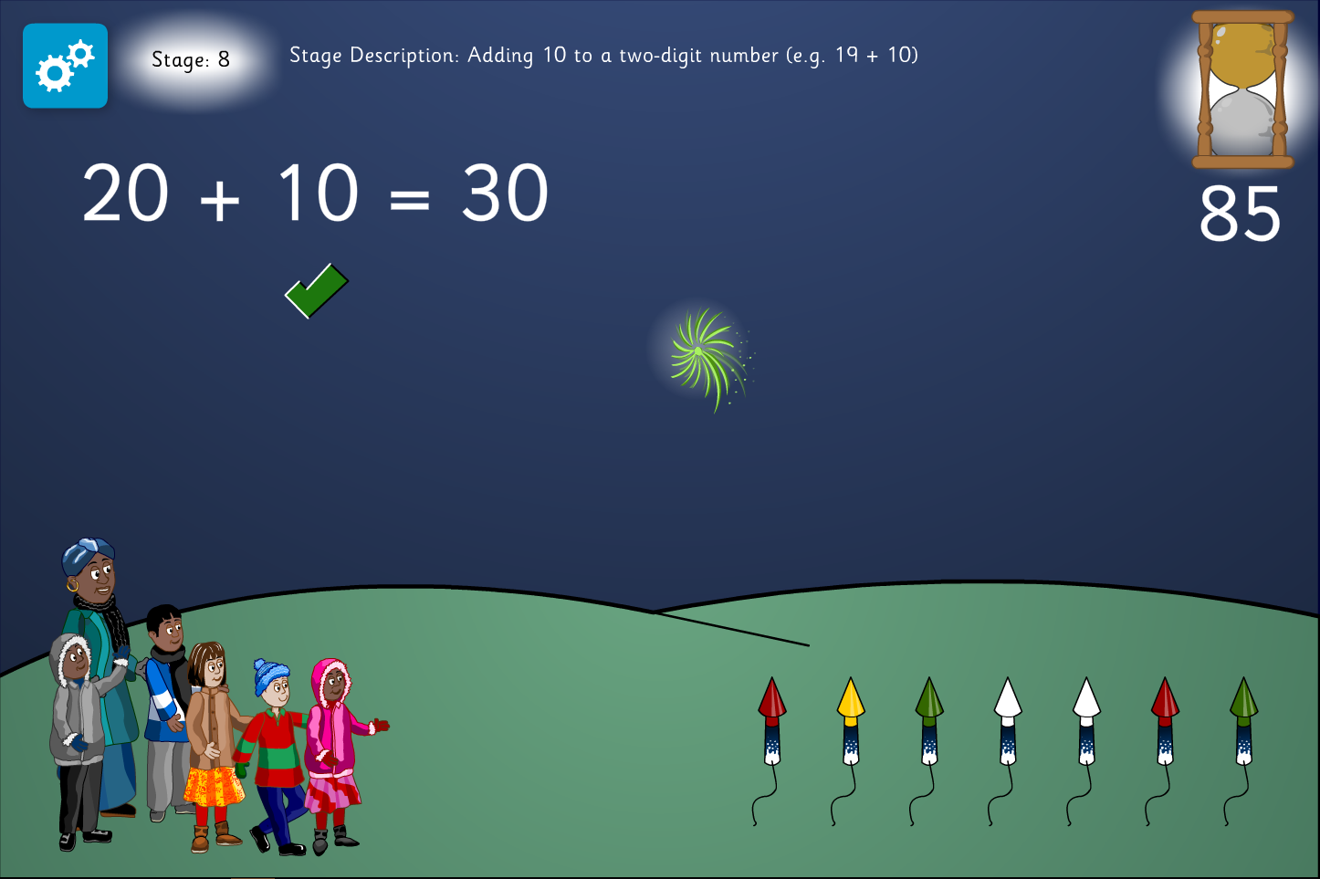 Addition Interactive Activity - Firework Maths - Bonfire Night KS1/KS1