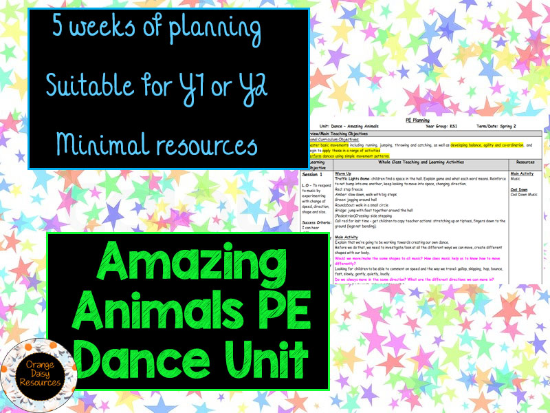 Amazing Animals 5 week Dance PE Unit for Y1 & Y2