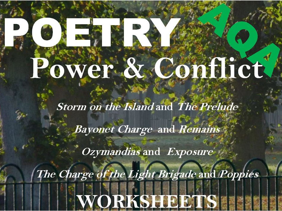 AQA GCSE English Literature Power and Conflict Poetry – Exam Revision - Sample  Answers - Worksheets