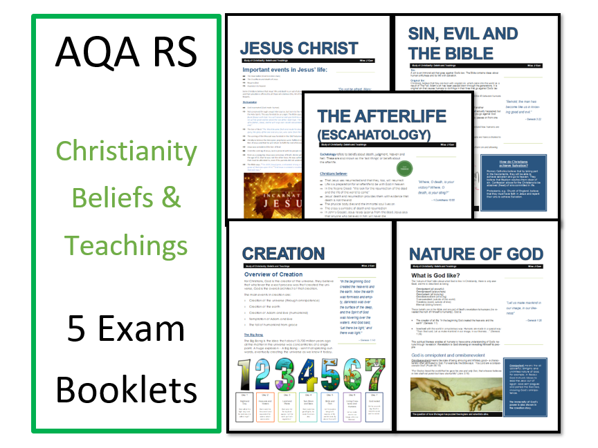 AQA Exam Booklets Unit for Christian Beliefs & Teachings