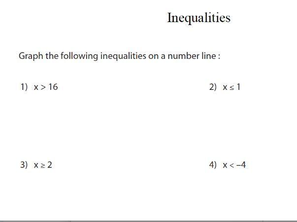 GCSE Maths: Inequalities revision worksheet