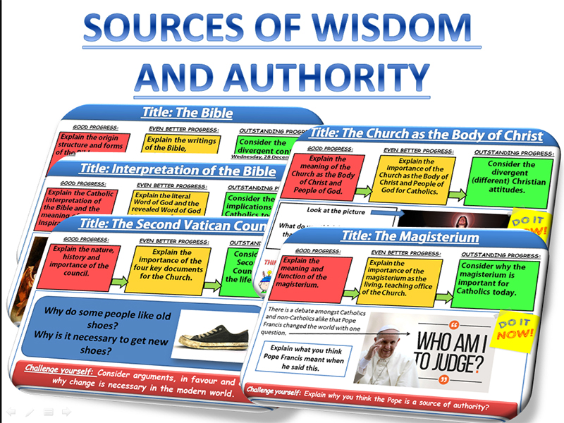 Sources of Wisdom and Authority