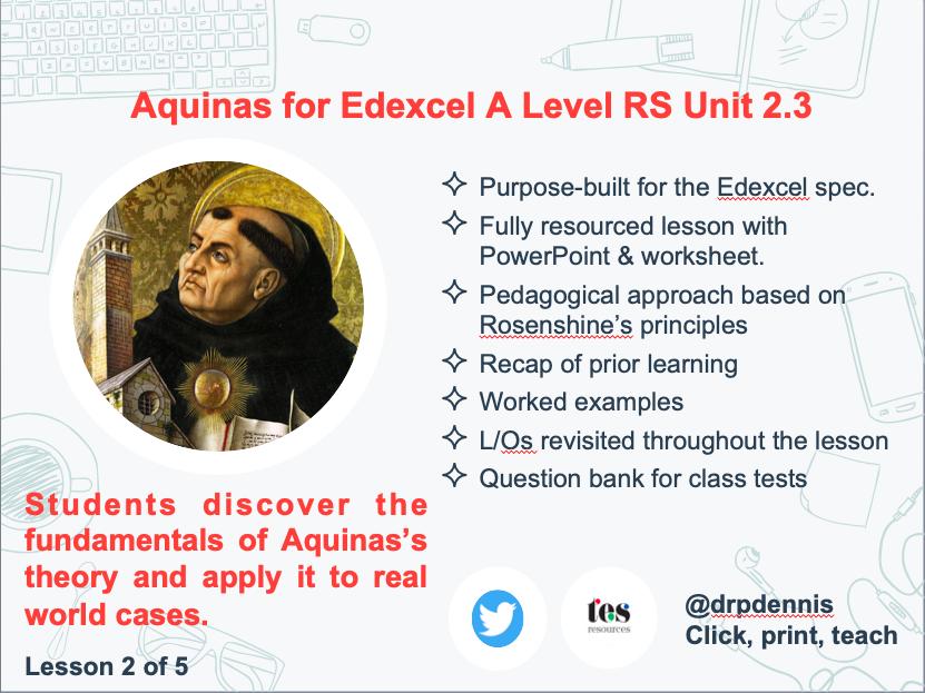 Aquinas on Natural Moral Law (Edexcel new spec)