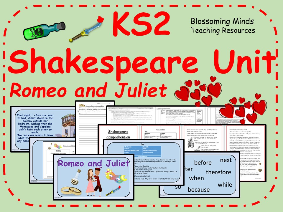 KS2 5 day Literacy Unit - Romeo and Juliet - Shakespeare