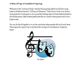 12 Days of Yoga: A Cumulative Yoga Song