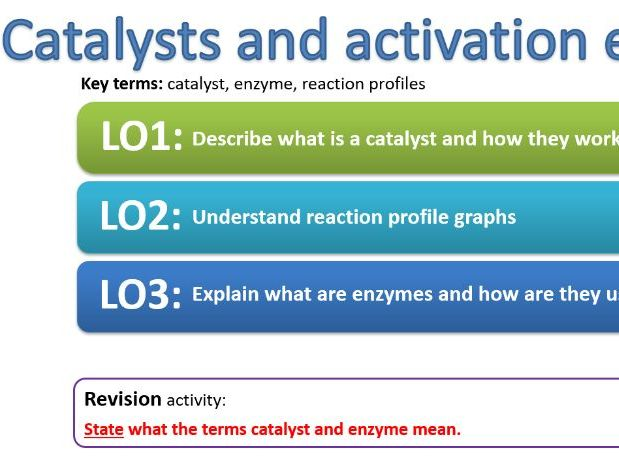 CC14c Catalysts and activation energy