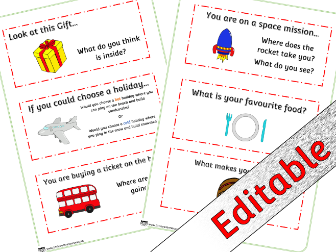 Circle Time Prompt Cards for Early Years/EYFS - Editable