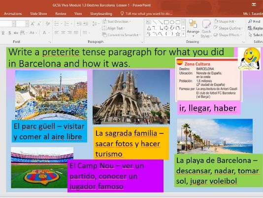 Edexcel  GCSE Spa Viva Mod 1.3 Destino Barcelona - 2 lesson bundle