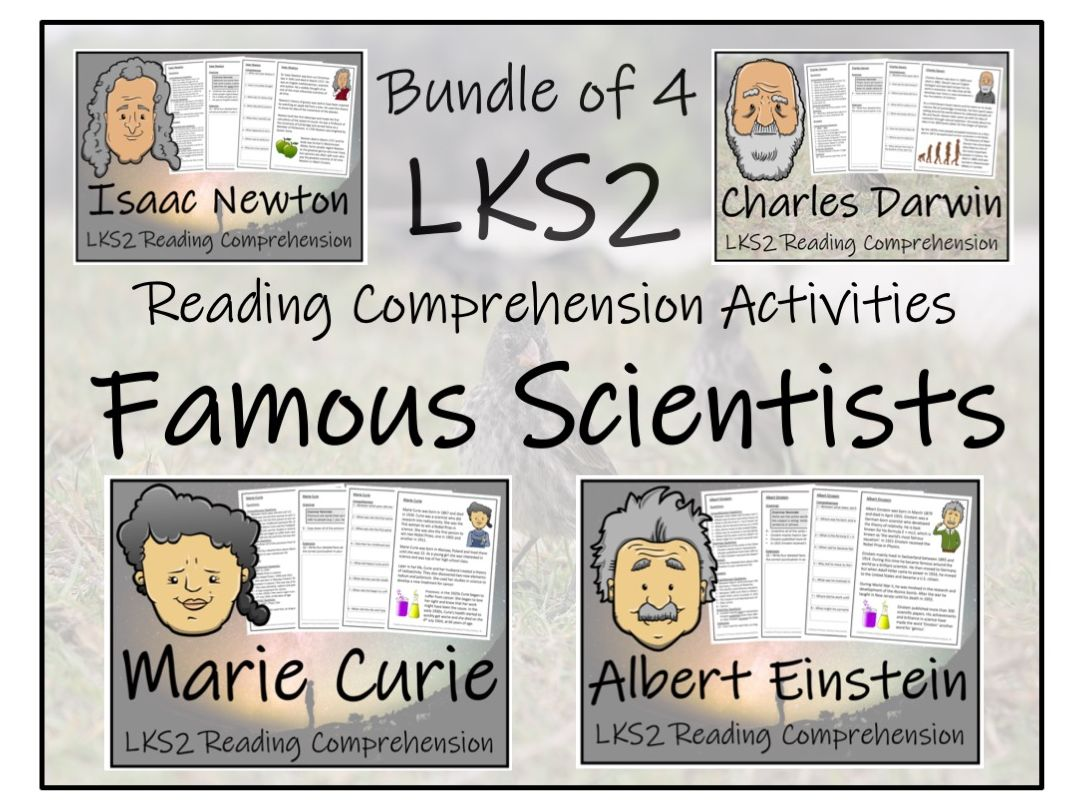 LKS2 Science - Famous Scientists Reading Comprehension Bundle