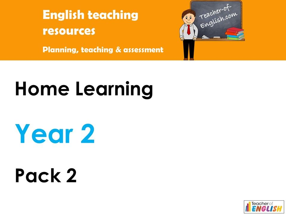 Year 2 English - Home Learning Pack 2