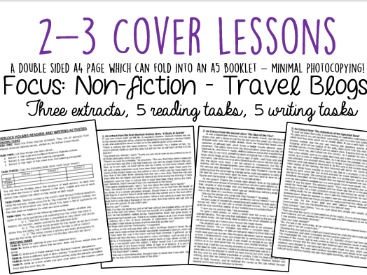 Cover Lessons: 3 Travel Blogs + Reading/Writing Activites