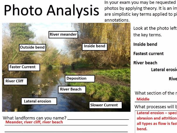 NEW OCR B Enquiring Minds DISTINCTIVE LANDFORMS 2017 19) Landscape Fieldwork 1 - Rivers WITH ANSWERS