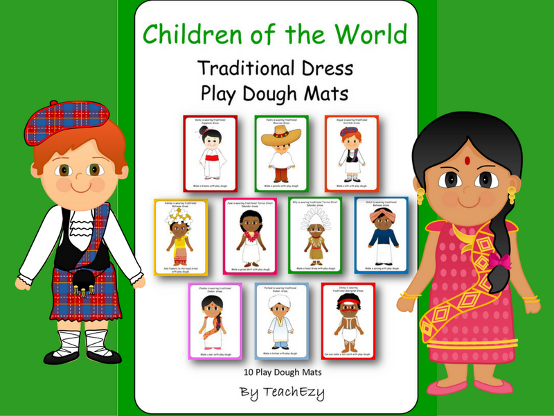 Children of the World Dress Play Dough Mats