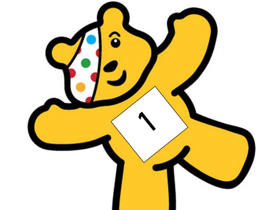 Pudsey Number line - Counting 1-10