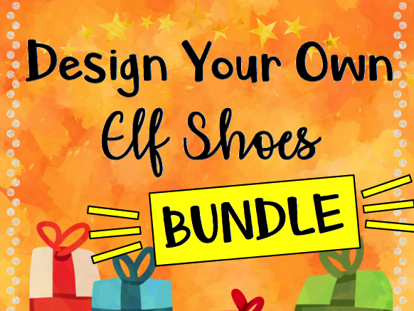 Christmas STEAM: Design Your Own Elf Shoes BUNDLE